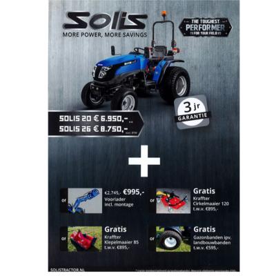 SOLIS 20 De compacte en wendbare 18 pk tractor van Solis.