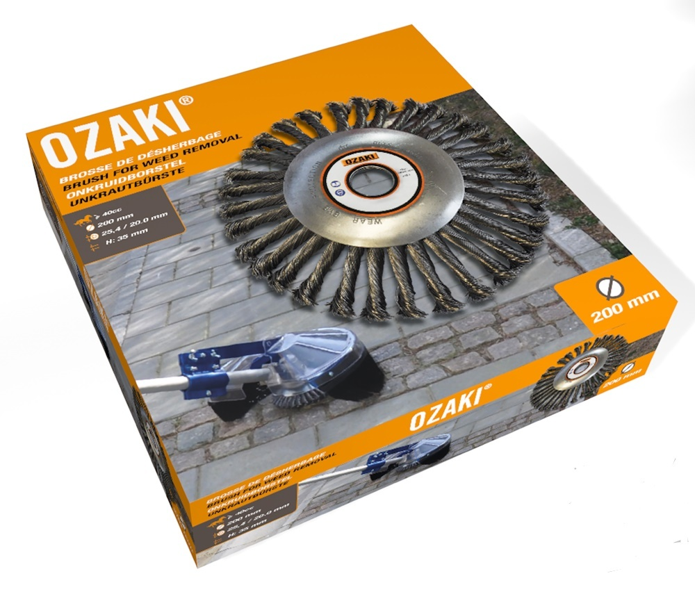 Ozaki Onkruidborstel voor Bosmaaier 200 mm