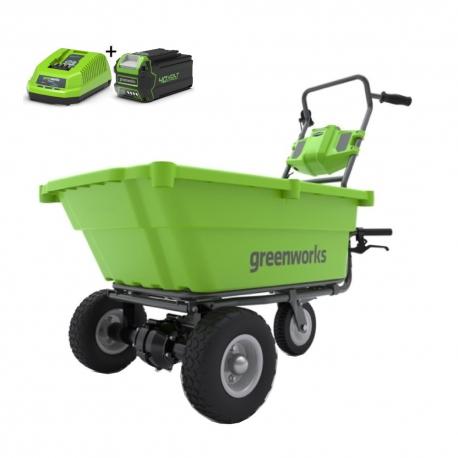 Greenworks Accu Kruiwagen G40GC (incl. accu en lader)